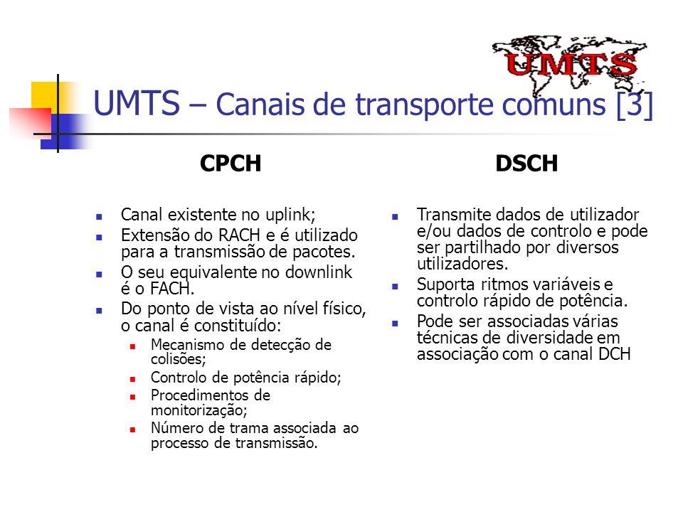 UMTS – Canais de transporte comuns [3]